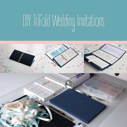 DIY Trifold Wedding Invitations