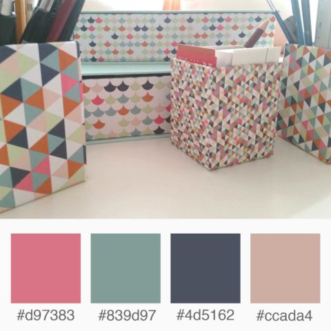 Weekly Colours Inspiration - Office Storage