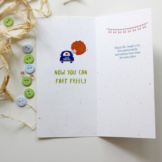 Wedding congratulations card for a football and a shopping lover