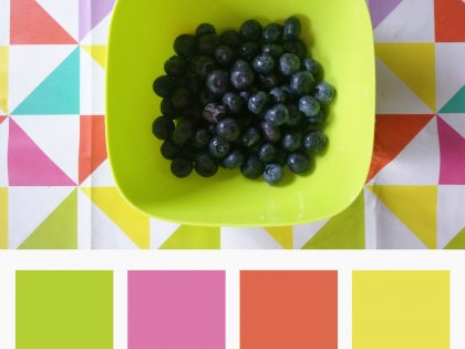 Weekly Colours Inspiration – Berries: Green, Pink, Orange, Yellow