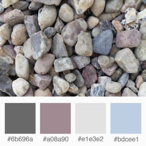 Weekly Colours Inspiration - Stones: Purple, Blue, Gray