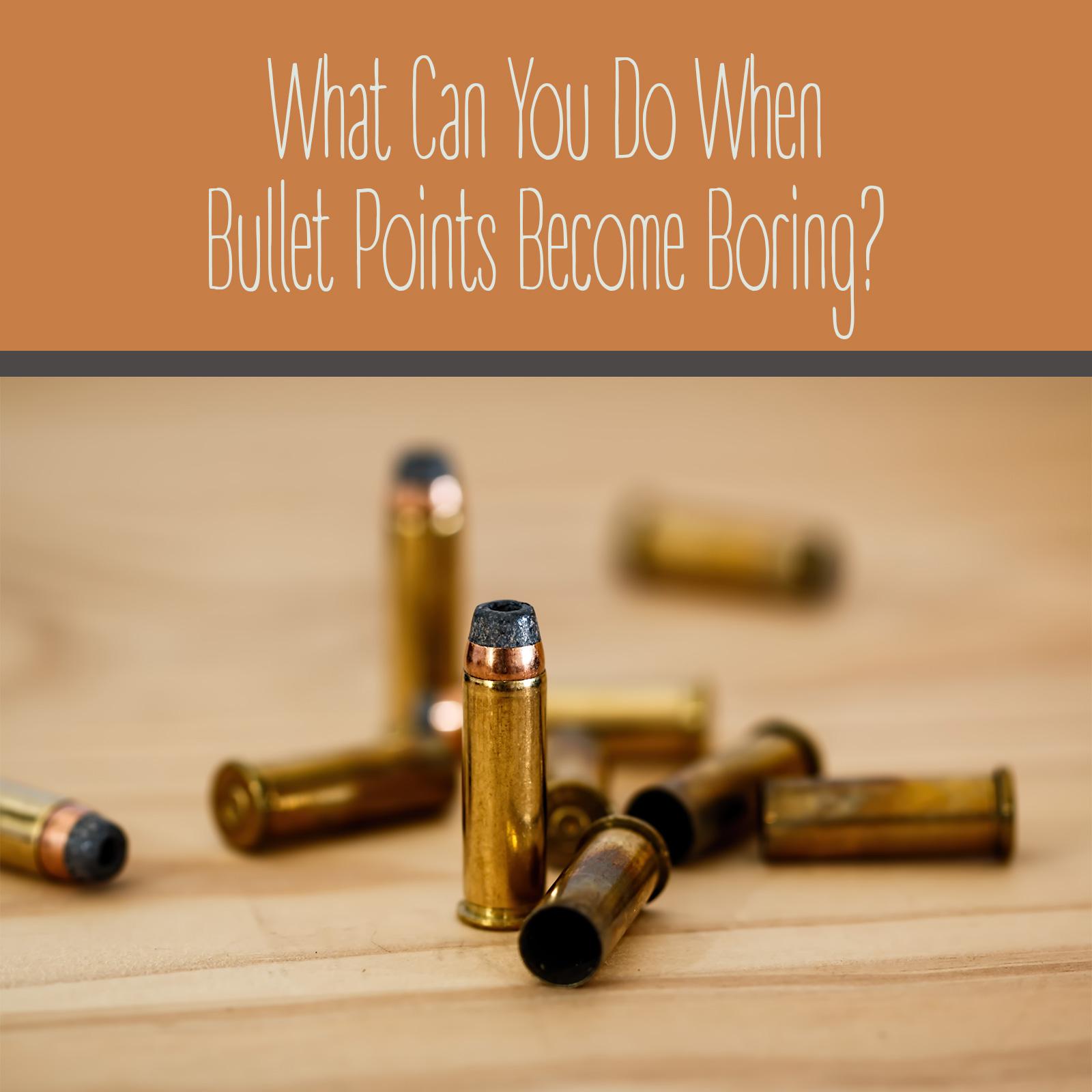 Designing Bullet Points