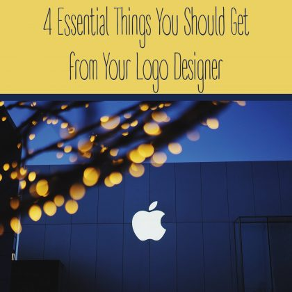 4 Essential Things You Should Get from Your Logo Designer