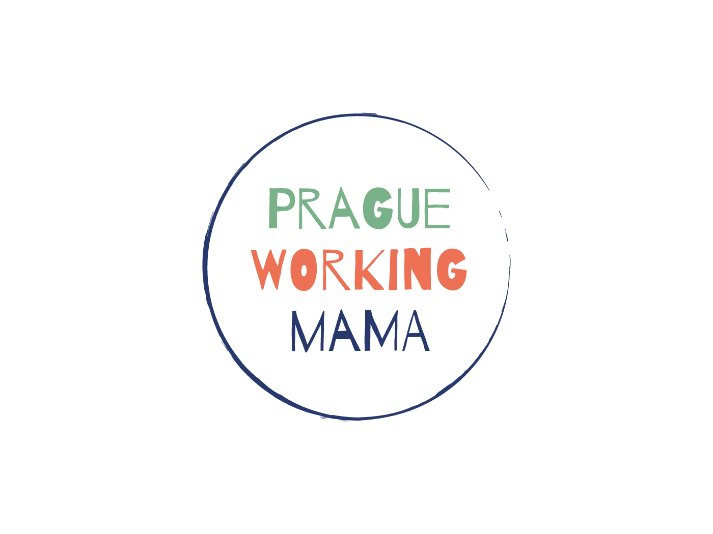 Prague Working Mama Logo Design