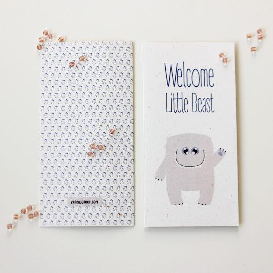 Cute Newborn Congratulations Card for Boy