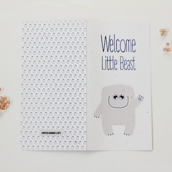 Little Beast Card Boy Front and Back Open-800px