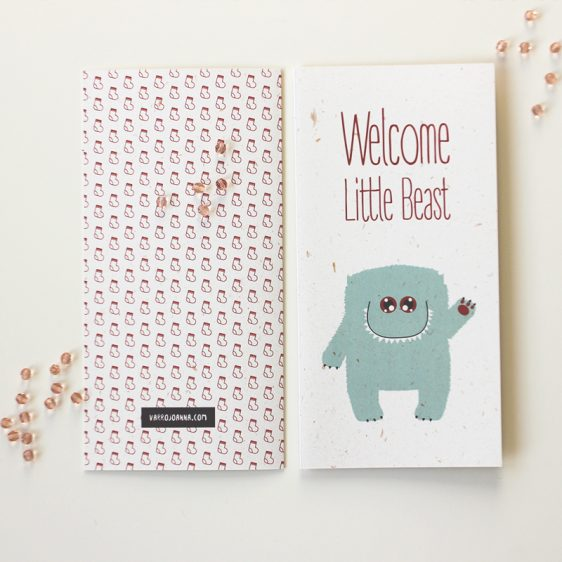 Cute Newborn Congratulations Card for Girl