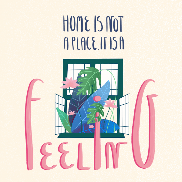 Home is a Feeling Illustration