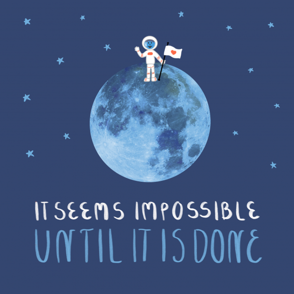 It Seems Impossible Until it is Done Illustration