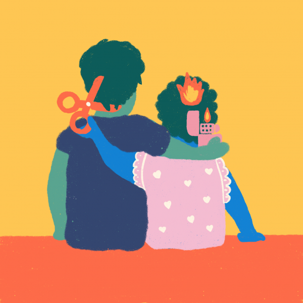 Siblings Illustration