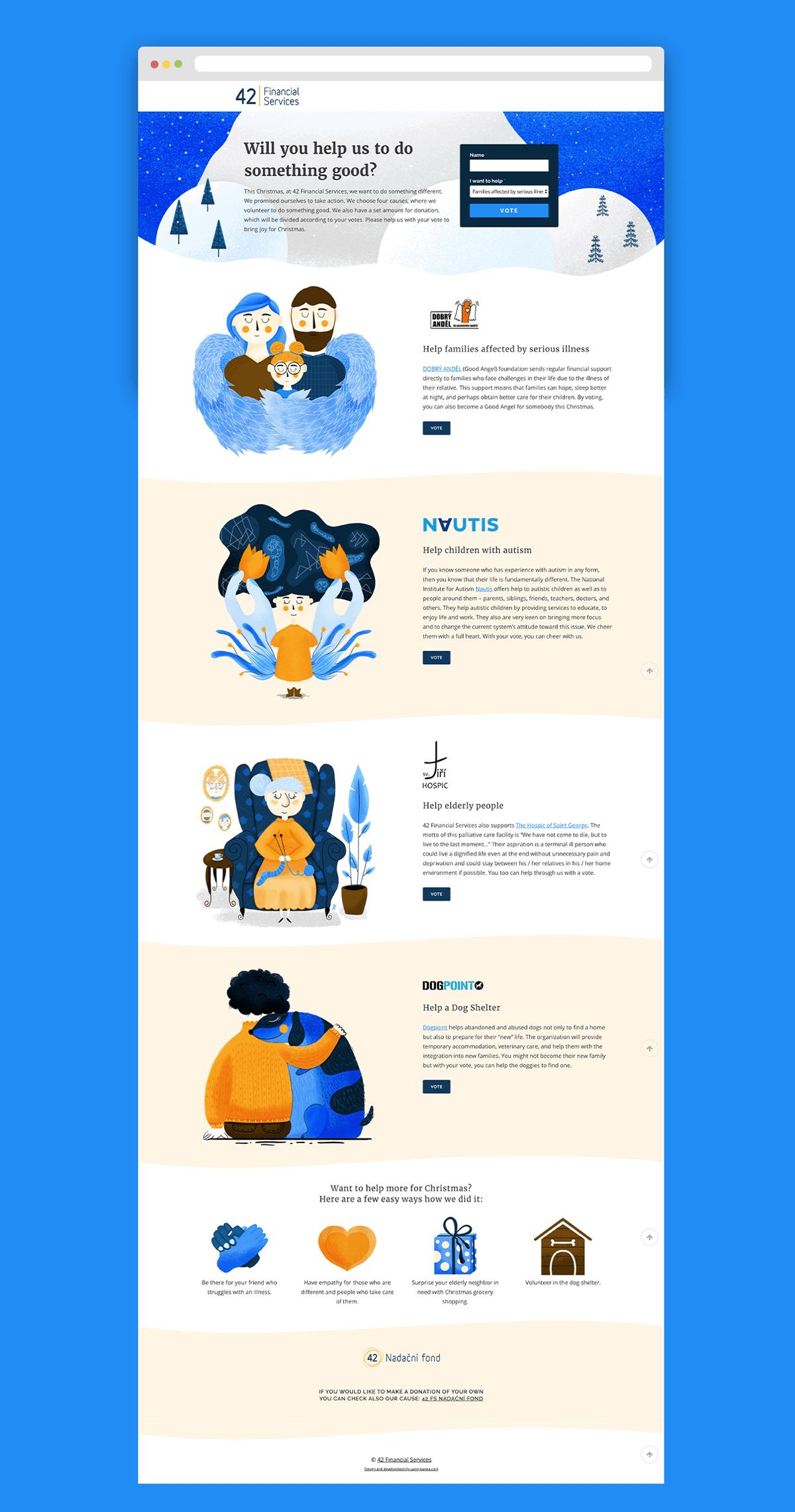 Digital Illustrations for Landing Page