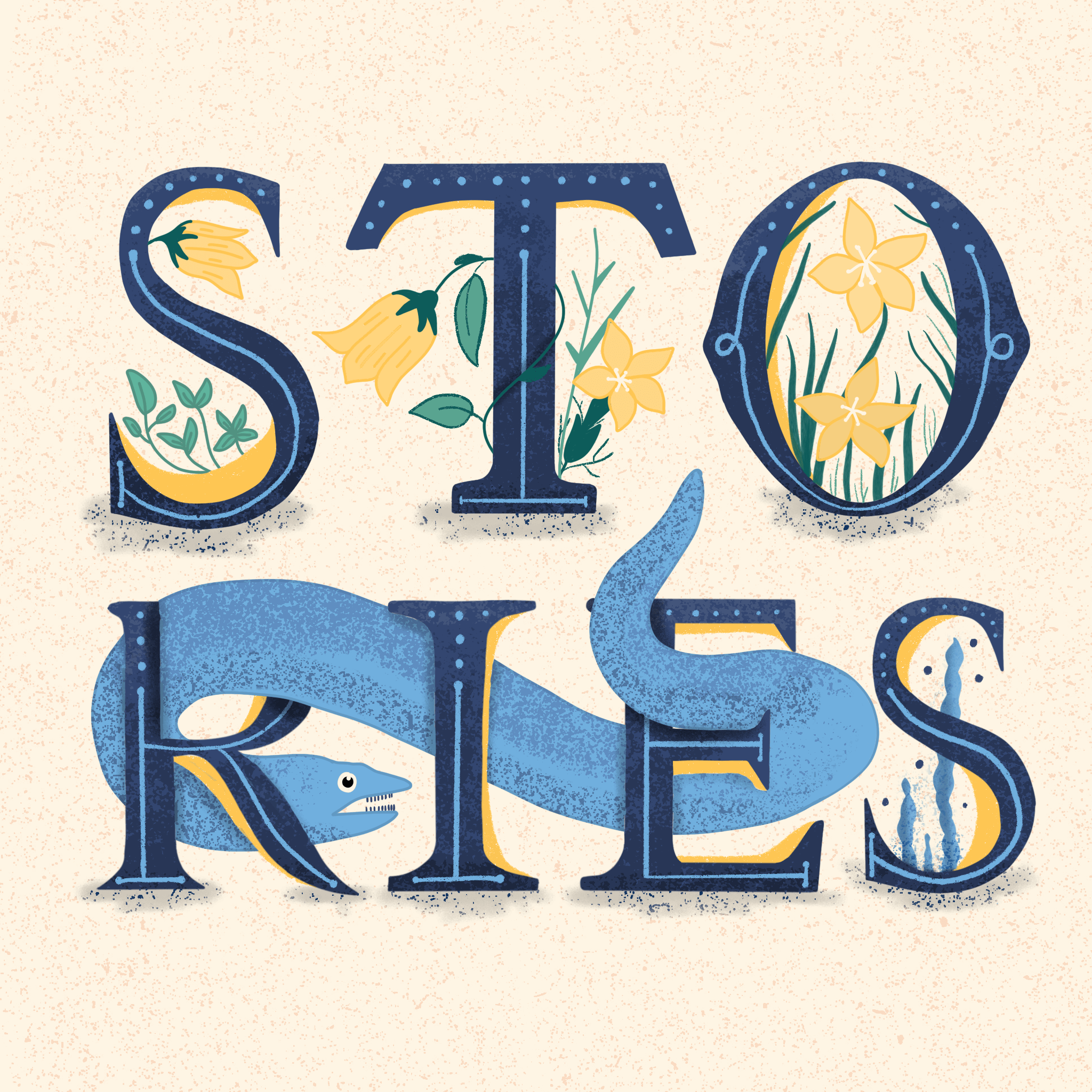Stories hand-lettering