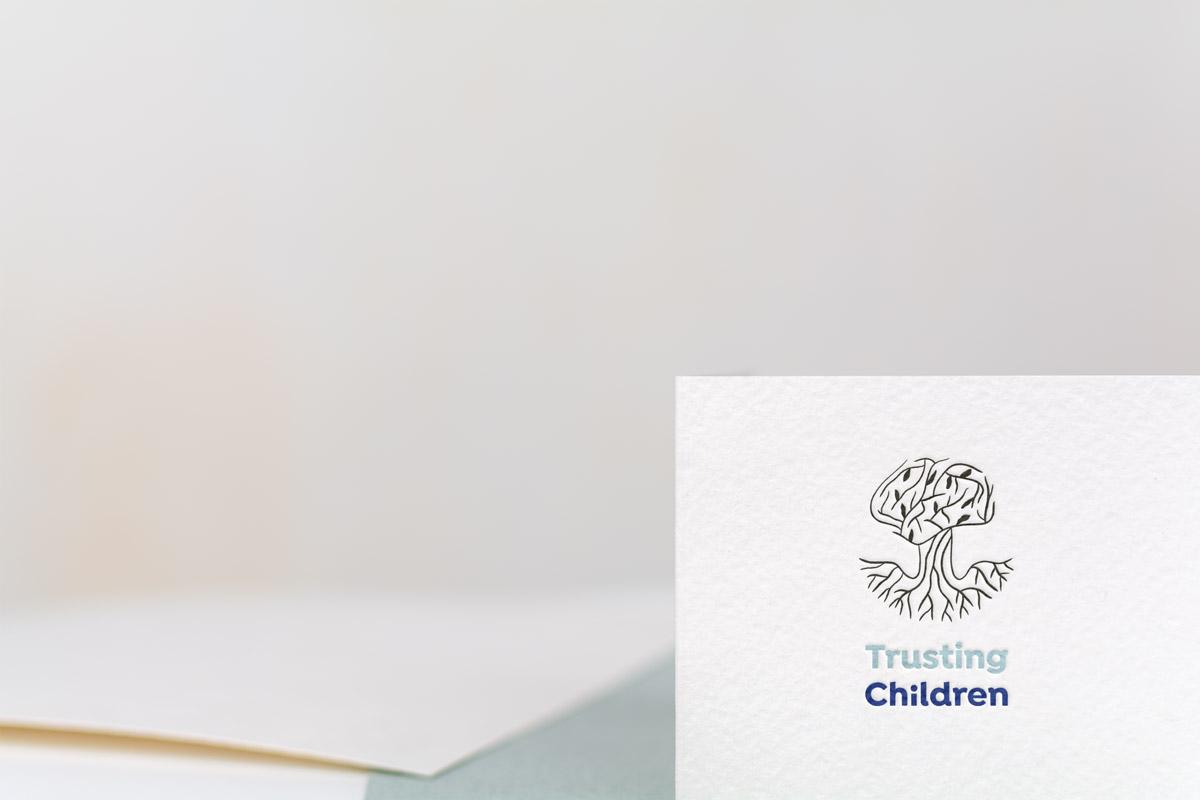Trusting Children Logo on Stationary