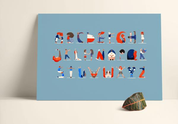 Human Alphabet Poster