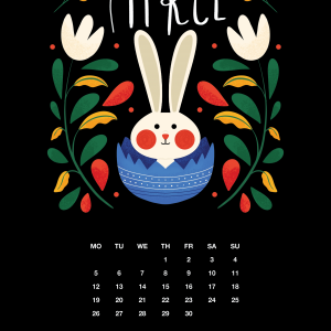 2021 Motivational Calendar April