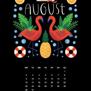 2021 Motivational Calendar August