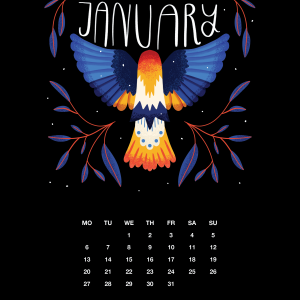 2021 Motivational Calendar January