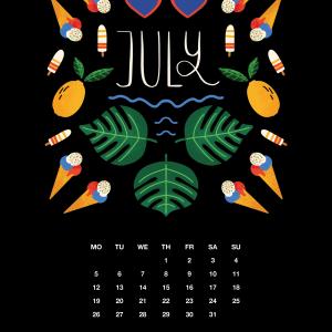 2021 Motivational Calendar July