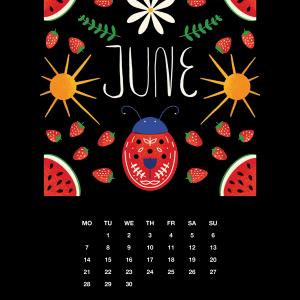 2021 Motivational Calendar June
