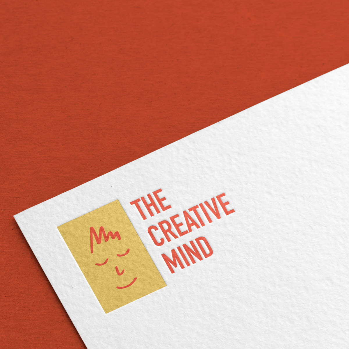 The Creative Mind Logo Closeup on Stationary