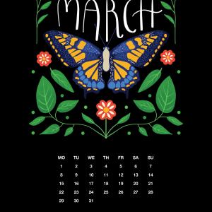 2021 Motivational Calendar March