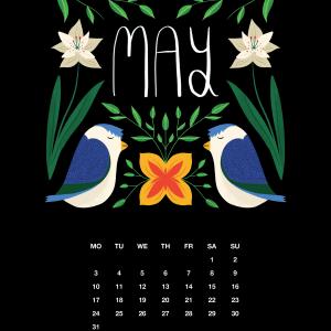 2021 Motivational Calendar May