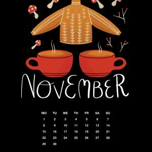 2021 Motivational Calendar November