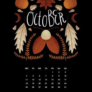 2021 Motivational Calendar Octobber