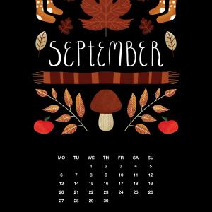 2021 Motivational Calendar September